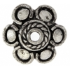 Bead Cap Antique Pewter 12mm Larger Hole